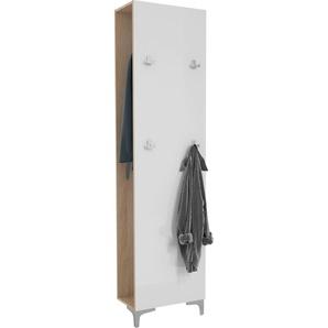 Maja Möbel Garderobenpaneel Shino B/H: 49,9 cm x 195 weiß Garderobenpaneele Garderoben