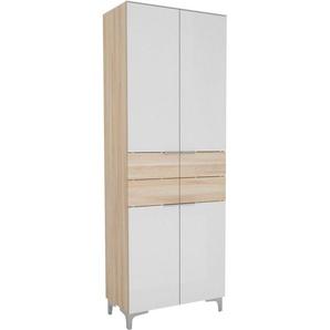 Maja Möbel Garderobenschrank ausziehbare Kleiderstange, sechs höhenverstellbare Einlegeböden, passend für mind. 12 Paar Schuhe