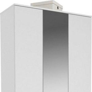 Maja Möbel Garderobenschrank »TREND Garderobenschrank 2571« Oberplatte Holz, mittlere Tür mit Spiegel, 1 ausziehbare Kleiderstange