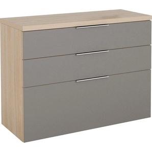 Hängeschrank »SHINO Garderobe« Oberplatte in 28mm starkem Holz, Schubladen mit Filzeinlagen