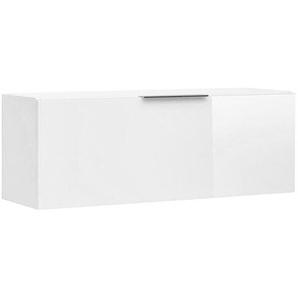 Maja Möbel Shino Hängeschrank 90x28x33cm  Weiß Matt/Weißglas