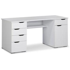 MAJA Schreibtisch ,Weiß ,Holzoptik