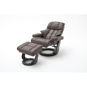 Manuell verstellbarer Relaxsessel Darcelle mit Fußhocker