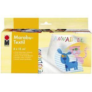 Marabu Textilfarben 6 x 15,0 ml