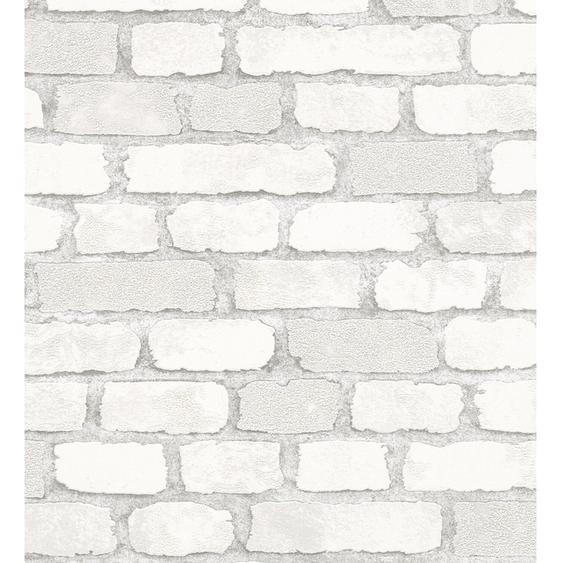 Marburg Vliestapete Imagine Holz/Stein Weiß