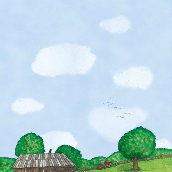 Marburg Vliestapete »blau-grün«, Comic, restlos abziehbar