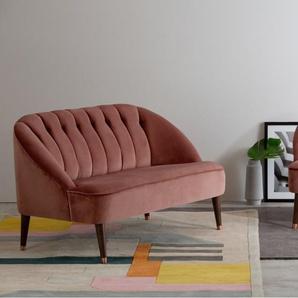 Margot 2-Sitzer Sofa, Samt in Altrosa