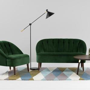 Margot 2-Sitzer Sofa, Samt in Waldgruen