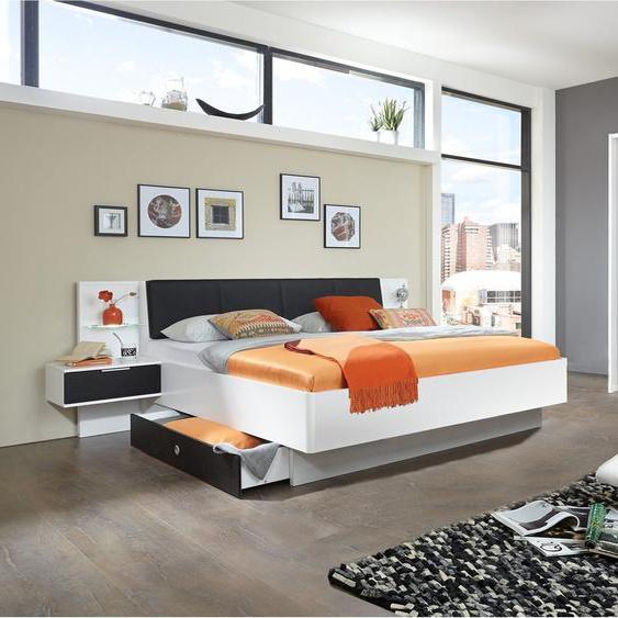 Maria Schlafzimmerset Schokolade Eiche Weiß