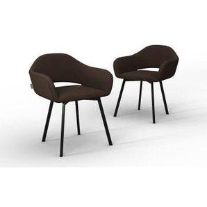 Marie Claire Home   Set mit 2 Esszimmerstühlen Oldenburg Noir