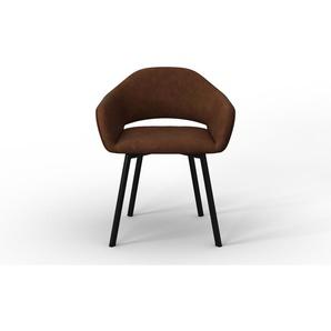 Marie Claire Home   Set mit 4 Esszimmerstühlen Oldenburg Noir