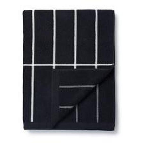 Marimekko - Tiiliskivi Badetuch 75 x 150 cm, schwarz / weiß
