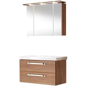 MARLIN Badmöbel-Set 3060 (2-tlg) 0, Einheitsgröße beige Bad-Sparsets Badmöbel Kastenmöbel-Sets