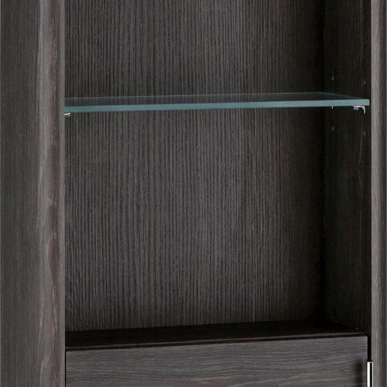 MARLIN Midischrank 3010.3 40 x 147 15,6 (B H T) cm, 1-türig, Türanschlag rechts braun Bad-Midischränke Badmöbel Schränke