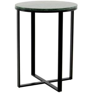 Marmor Tischchen in Dunkelgrün rund