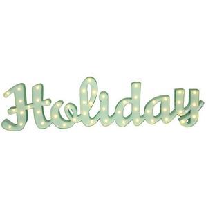 MARQUEE LIGHTS LED Dekolicht »Holiday Schriftzug«, Wandlampe, Tischlampe Holiday mit 48 festverbauten LEDs - 149cm Breit und 38cm hoch