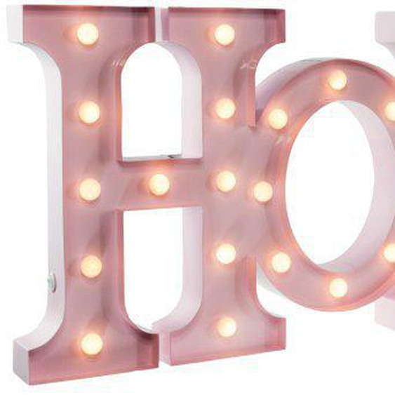 MARQUEE LIGHTS LED Dekolicht »Home Schriftzug«, Wandlampe, Tischlampe Home mit 44 festverbauten LEDs - 80cm Breit und 31cm hoch