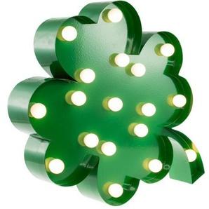 MARQUEE LIGHTS LED Dekolicht »Vierblättriges Kleeblatt«, Wandlampe, Tischlampe 4-Leaf-Clover mit 18 festverbauten LEDs - 31cm Breit und 31cm hoch