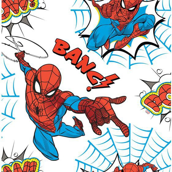 Marvel  Papiertapete  Spiderman Pow! Blau / Weiß