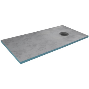 Marwell Duschwanne, rechteckig, Extrudiertes Polystyrol (XPS), 160 x 90 x 4 cm aus sehr stabilem, wasserdichtem Polystyrol