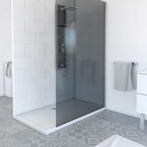 Marwell Walk-in-Dusche Plano, 120 x 200 cm B/H: cm, beidseitig montierbar silberfarben Duschwände Duschen Bad Sanitär