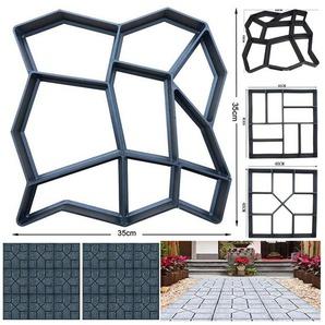 Masbekte Bodenplatte, Garten DIY, Pflasterform Gehweg Betonpflaster Gießform, Schablone Schalungsform