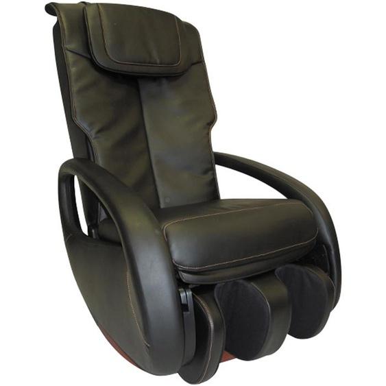 Massage-Sessel, 68x107x103 cm (BxHxT), Alpha Techno, schwarz, Material Kunstleder, mit Rückenverstellung
