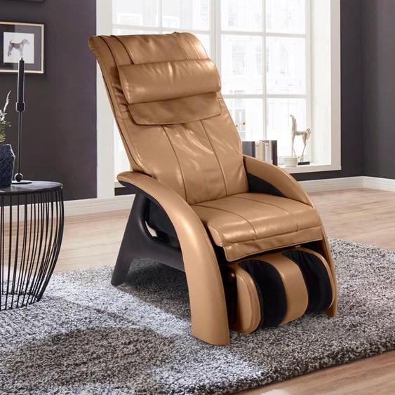 Massage-Sessel, 70x122x45 cm (BxHxT), Alpha Techno, beige, Material Kunstleder, Metall