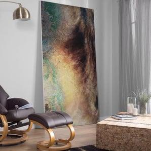 Massagesessel braun Kunstleder Heizfunktion mit Fußhocker FORCE