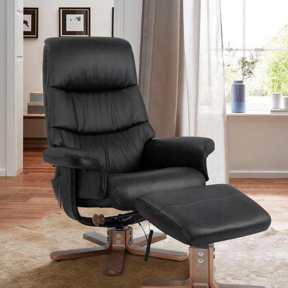 Massagesessel, schwarz, Alpha Techno, mit Relaxfunktion