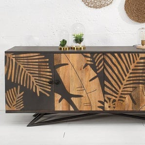 Massives Sideboard TROPICAL 175cm Mangoholz Florales Design