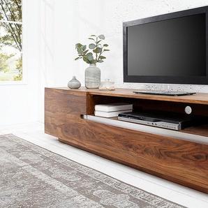 Massives TV Board FIRE & EARTH II 160cm Sheesham-Holz stone finish Palisander