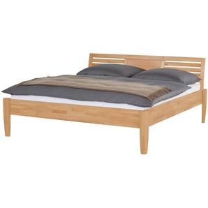 Massivholz-Bettgestell | holzfarben | 196 cm | 93 cm | Möbel Kraft