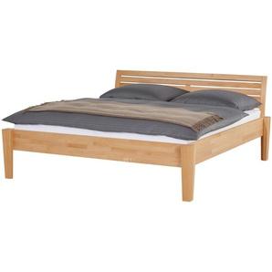 Massivholz-Bettgestell 140x200 - Buche Timber ¦ holzfarben ¦ Maße (cm): B: 156 H: 93 Betten  Futonbetten » Höffner