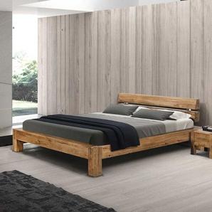 Massivholz Futonbett aus Sumpfeiche geölt modern