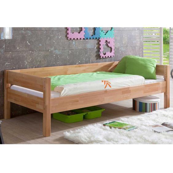 Massivholz-Kinderbett in Buchefarben 90x200cm