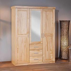 Massivholz Kleiderschrank aus Kiefer Spiegel