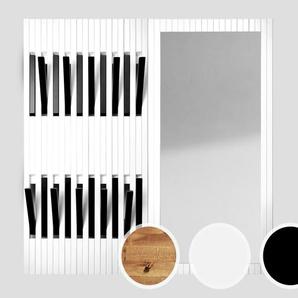 Massivholz Piaforte Garderobe / Weiss/Schwarz lackiert