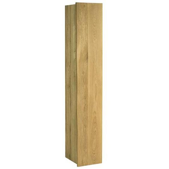 Massivholz Schuhschrank mit Baumkante Eiche geölt