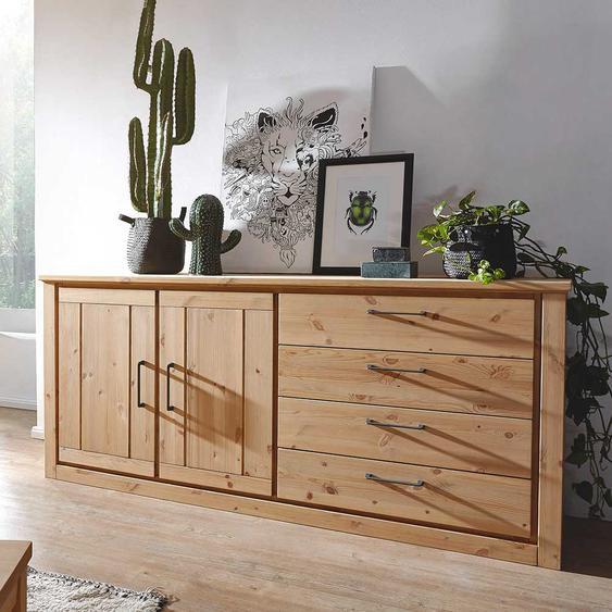 Massivholz Sideboard aus Kiefer geölt Landhausstil