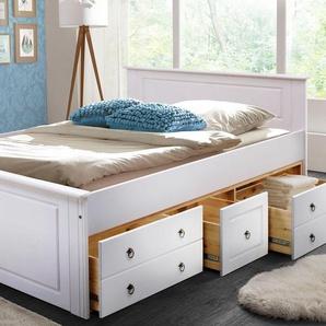 Home affaire Bett , weiß, 180x200 cm, FSC-Zertifikat, »Hugo«, , , FSC®-zertifiziert