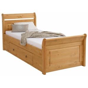 Home affaire Bett »Lotta«, beige, 90x200 cm Höhe Bettseite: 41,5 cm, gewachst, , , FSC®-zertifiziert
