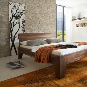 Massivholzbett Luzern, Nussbaum 180x200cm, das Metallfrei-Bett