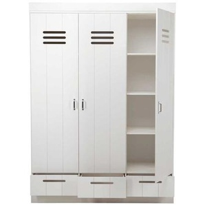 Massivholzkleiderschrank in Wei� Kiefer