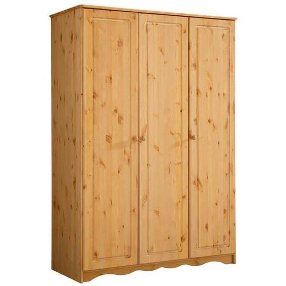 Massivholzschrank aus Kiefer gebeizt und geölt 3-türig