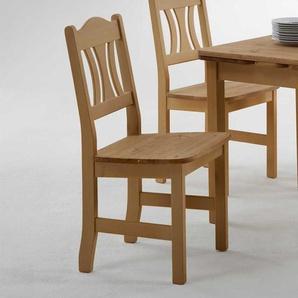 Massivholzstuhl aus Kiefer Landhaus Design (2er Set)