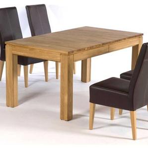 Massivholztisch aus Eiche ausziehbar