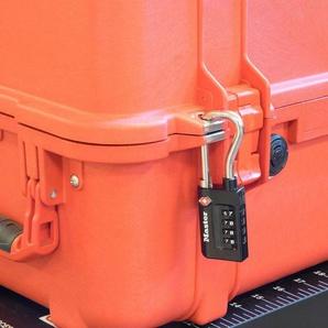 MASTER LOCK Vorhängeschloss Zahlenschloss TSA Gepäckschloss, 35 mm mit hohem Bügel