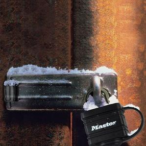 MASTER LOCK Vorhängeschloss 40 mm aus Stahl mit Thermoplast, 2er Pack gleichschließend