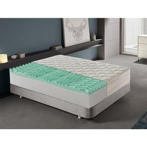 Memory Foam Matratze 190x200 mit 9 unterschiedlichen Memory-Zonen - 25 cm hoch mit abnehmbarem Bezug - MATERASSIEDOGHE